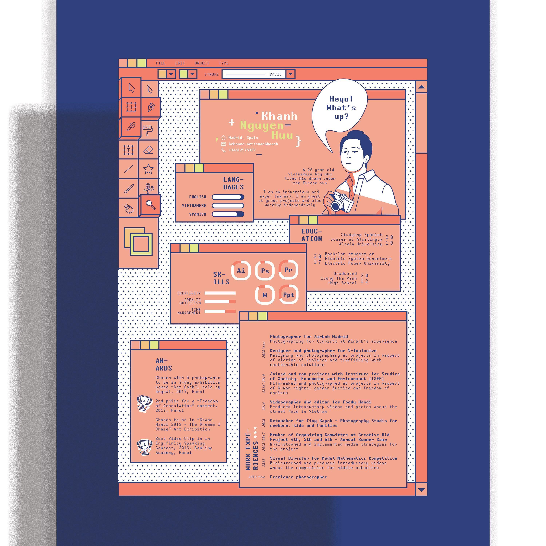 Poster Discover Curriculum Vitae Design In 2020 Curriculum Vitae Design Graphic Design Resume Presentation Design Layout