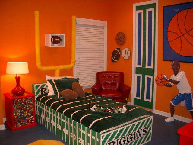 Boys sports room boys sports bedroom basketball themes for Boys basketball bedroom ideas