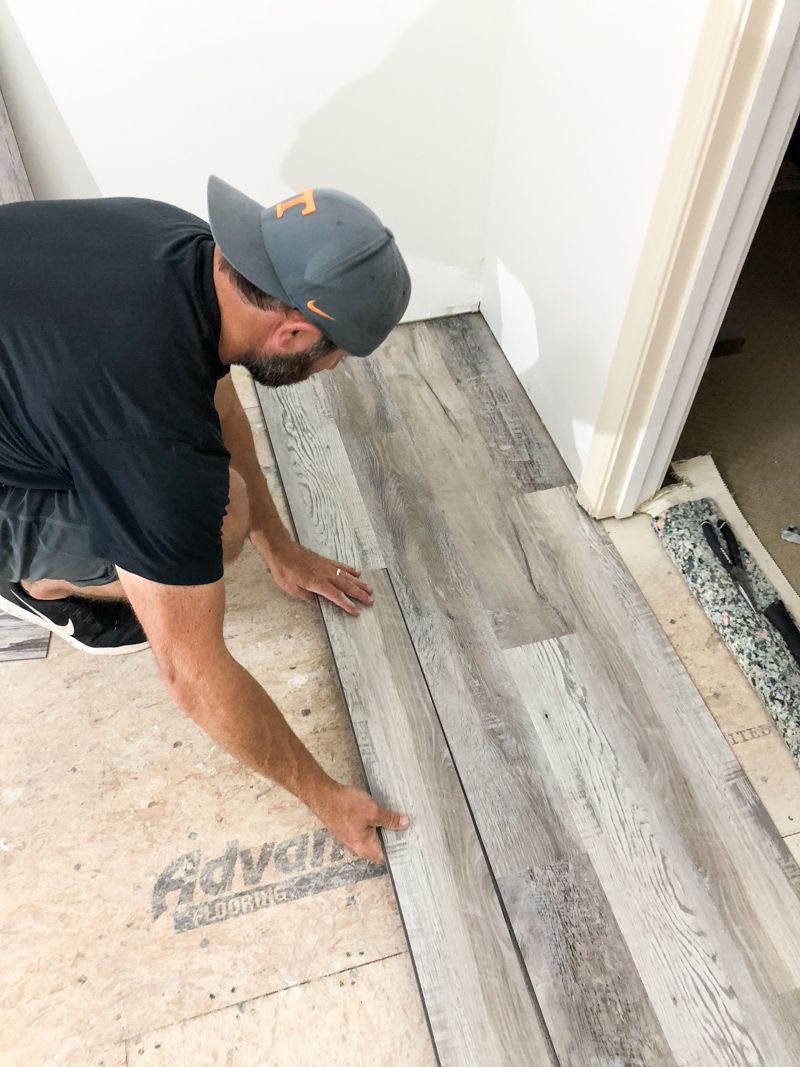 How To Install Luxury Vinyl Plank Flooring Bower Power Installing Vinyl Plank Flooring Luxury Vinyl Plank Flooring Vinyl Plank Flooring