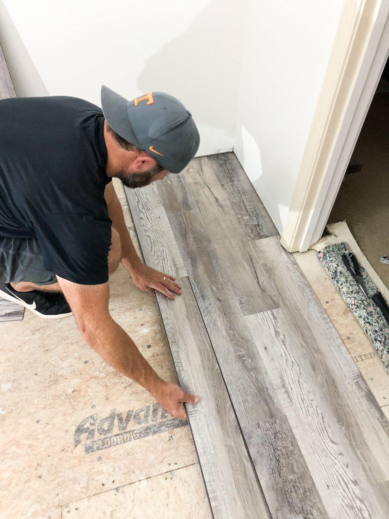 How To Install Luxury Vinyl Plank Flooring Bower Power Installing Vinyl Plank Flooring Luxury Vinyl Plank Flooring Vinyl Plank Flooring