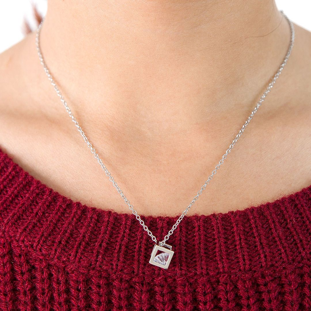 Cubic crystal necklace 46 discount patpat mom baby