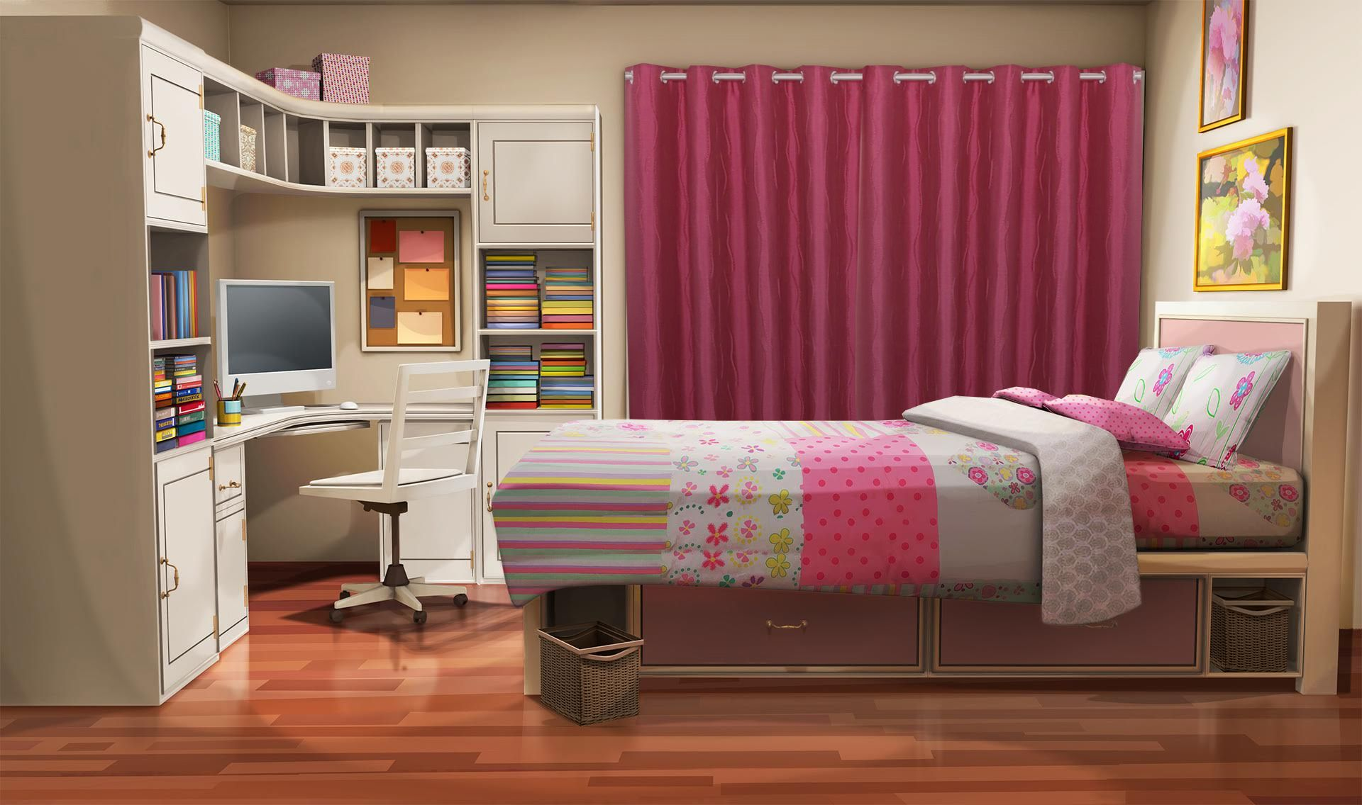 To Download This Background Right Click On The Image Pc Or Control Click On The Image Mac And Select Living Room Background Sister Bedroom Anime Scenery