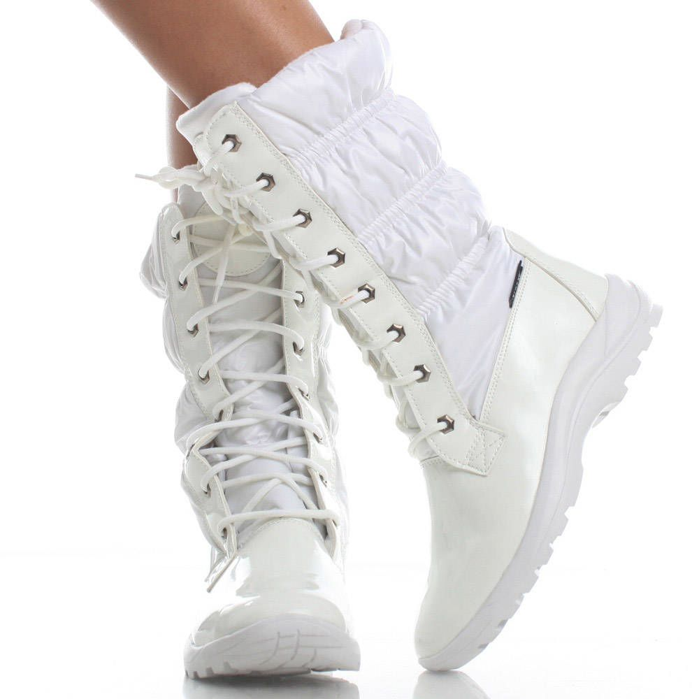 Women;s White Snow Boots | Santa Barbara Institute for ...