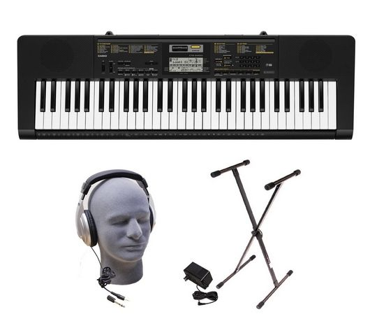 Here is a fantastic Christmas Gift for your musician at home! This Casio Keyboard Set with Headphones, Stand, and Power Supply :)