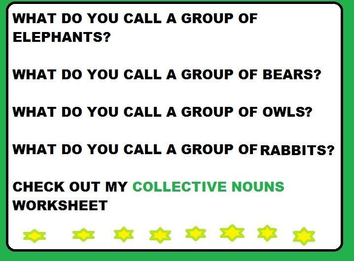 Collective Nouns Worksheet http://www.teacherspayteachers.com ...