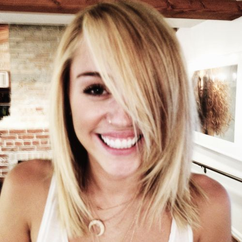 miley cyrus shoulder length hair tumblr wwwimgkidcom