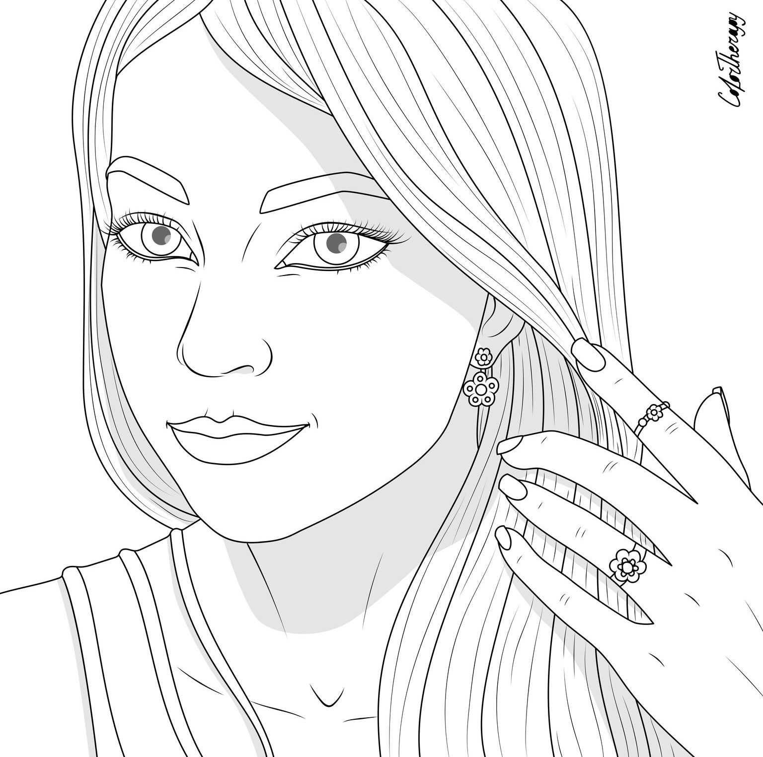 Totally Free Coloring Pages To Unwind While We Re On Social Distancing With Color Therapy App Color Therapy People Coloring Pages Coloring Pages