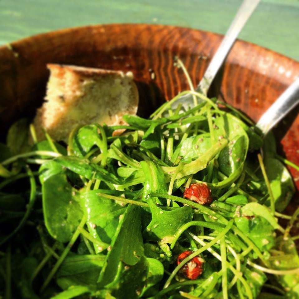 New lettuce plus sourdough bread #local #vegan #organic