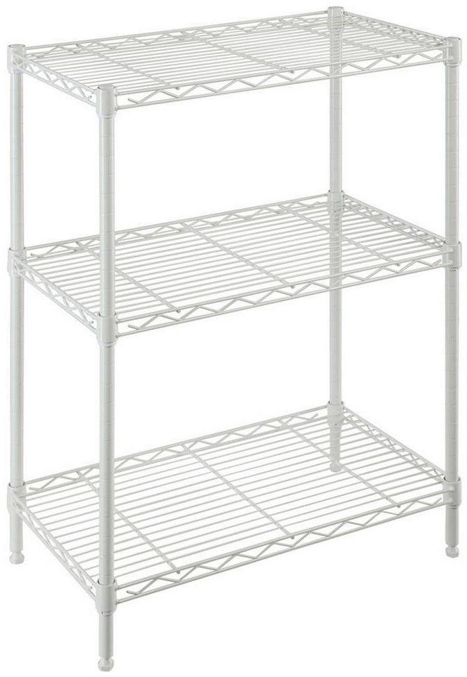 Metal Wire Shelving Unit Adjustable 3-Shelf 24 In. W X 30 In. H X 14 ...