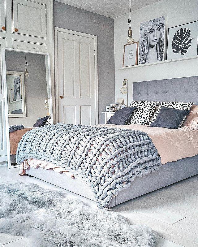 Scandinavian Bedroomdesign Ideas: Cool Color Tones #bedroom #bedroomdecor #homedecor