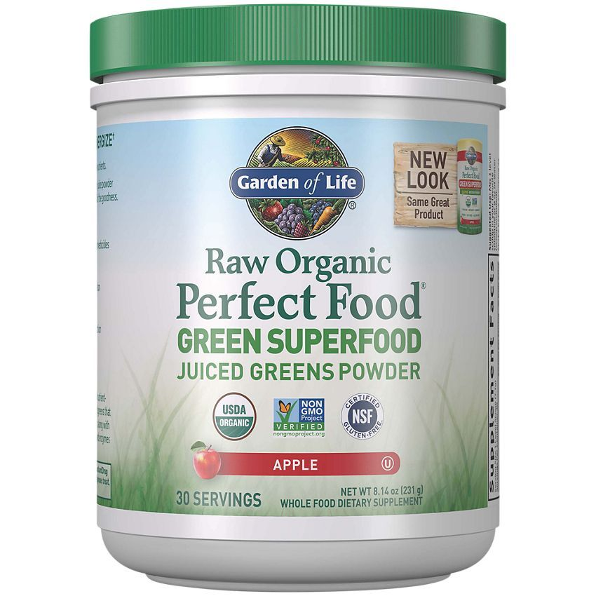 Raw Organic Perfect Food Greens Superfood Apple 8 2 Ounces Powder By Garden Of Life At The Vitamin Shoppe In 2020 Green Superfood Powder Green Superfood Raw Organic
