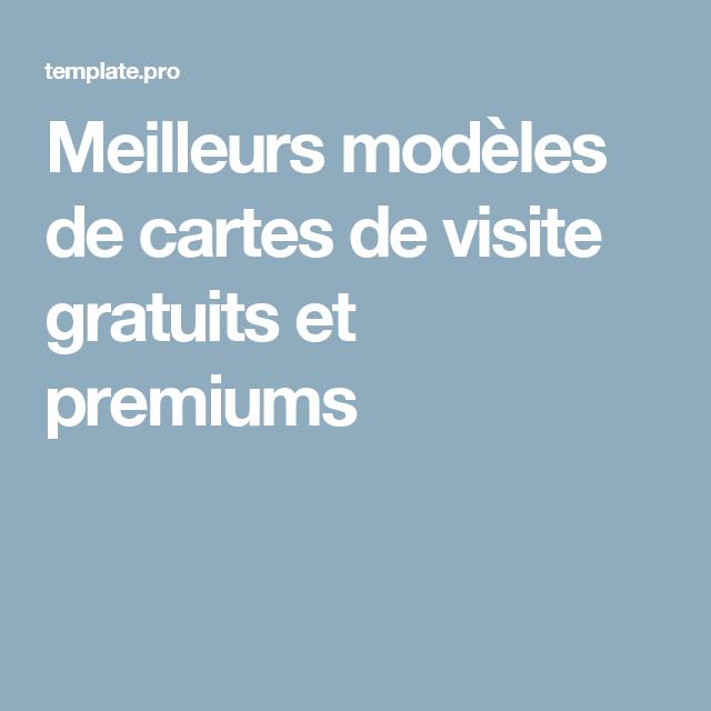 Meilleurs Modeles De Cartes Visite Gratuits Et Premiums Carte Gratuite Auto Entreprise