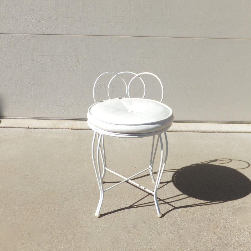 Vintage Vanity Stool Hollywood Regency Chic Vanity Chair Gold