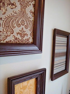 make your own wall decor;; fabric+frames!! | For the home ...