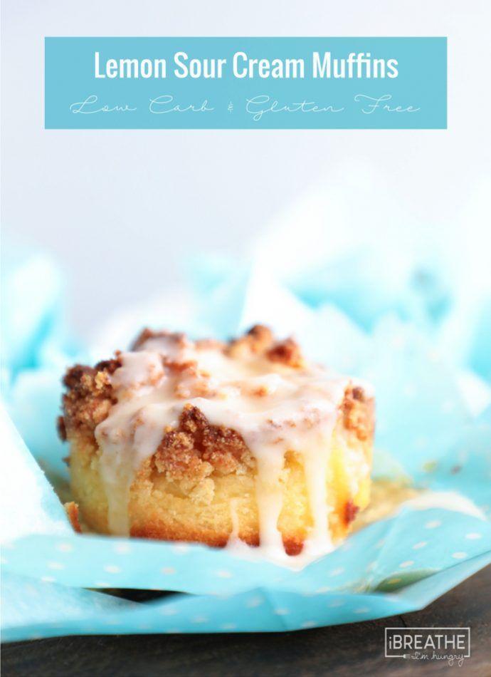 Keto Lemon Sour Cream Muffins Low Carb Recipe Sour Cream Muffins Keto Muffin Recipe Low Carb Recipes Dessert