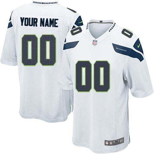 Youth Nike Seattle Seahawks Customized Elite White NFL Jersey http ...