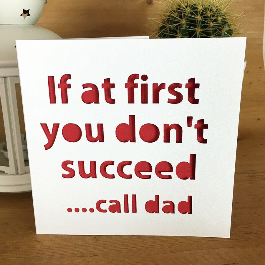 Funny Dad Fathers Day Card For Dad, Happy Birthday