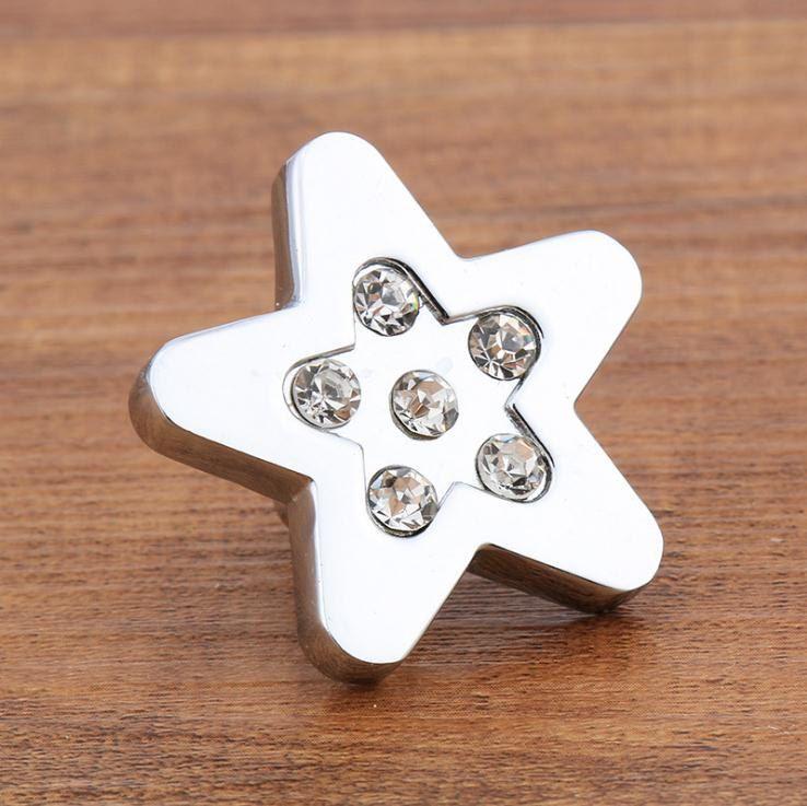Rhinestone Glass Knobs Crystal Dresser Knob Drawer Knobs Pulls Handles Flower…