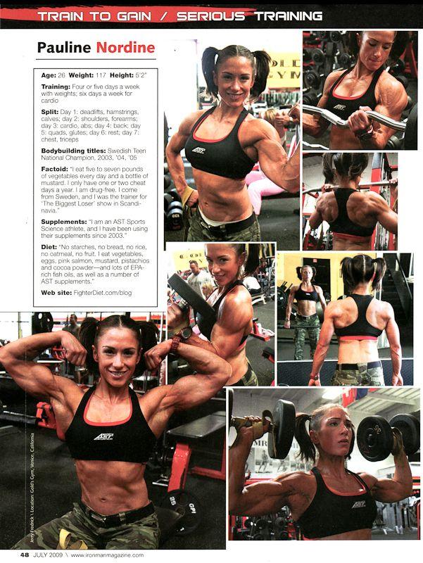 Pauline Nordin Bodybuilding Diet Workout Plan For Women Fighter Diet