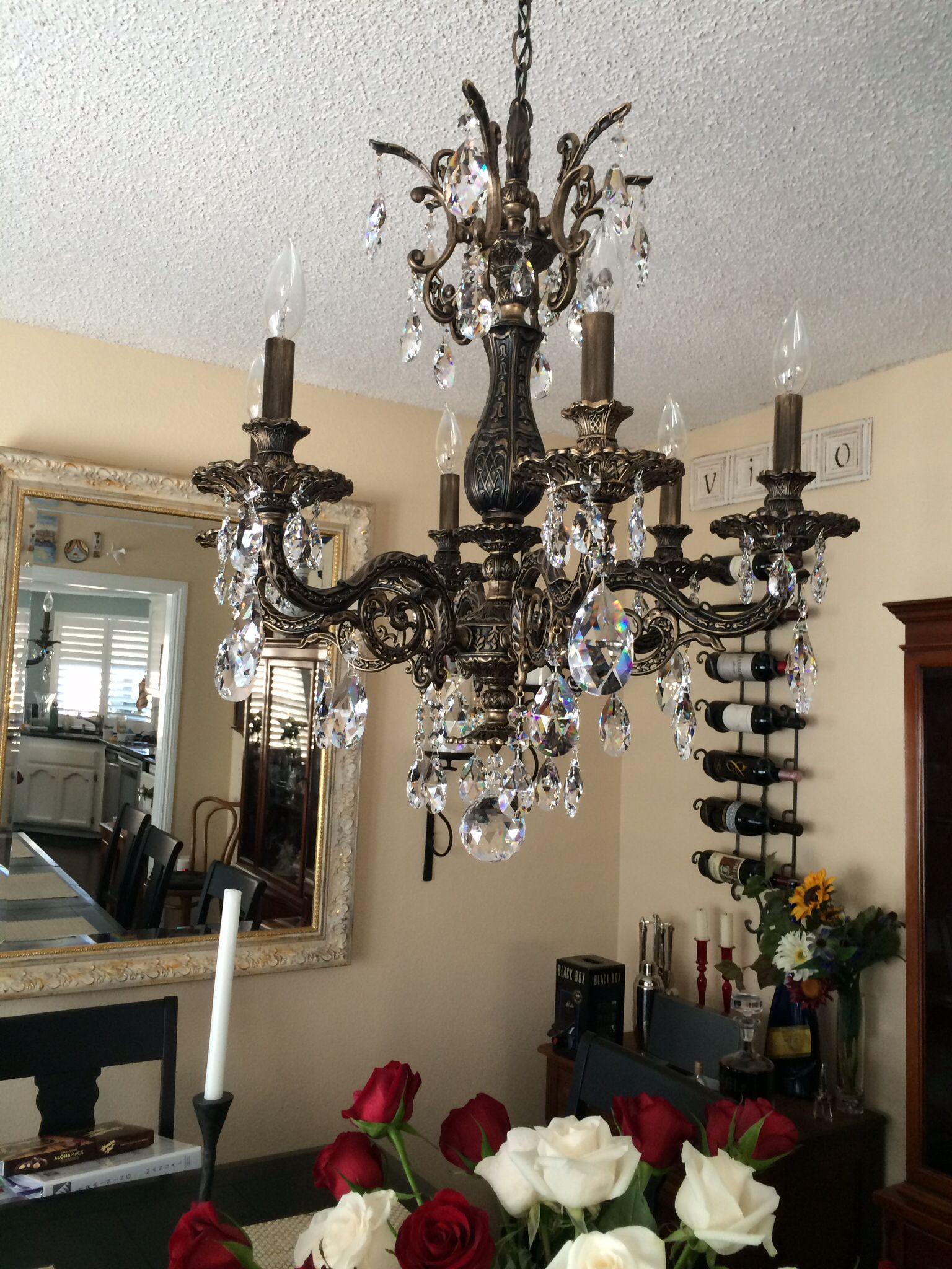 Heirloom Schonbek Milano chandelier...