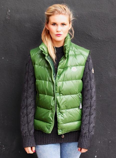 green Moncler 'Tib' down vest