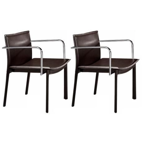 Zuo Gekko Black and Chrome Set of 2 Conference Chairs - $356.91