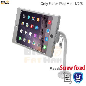 Tablet Pc Display Flexible Gooseneck Wall Mount Holder Stand For Ipad Mini1 2 3 Security Safe Locked Metal Box Support Arm Tablet Ipad Stand Security Safe