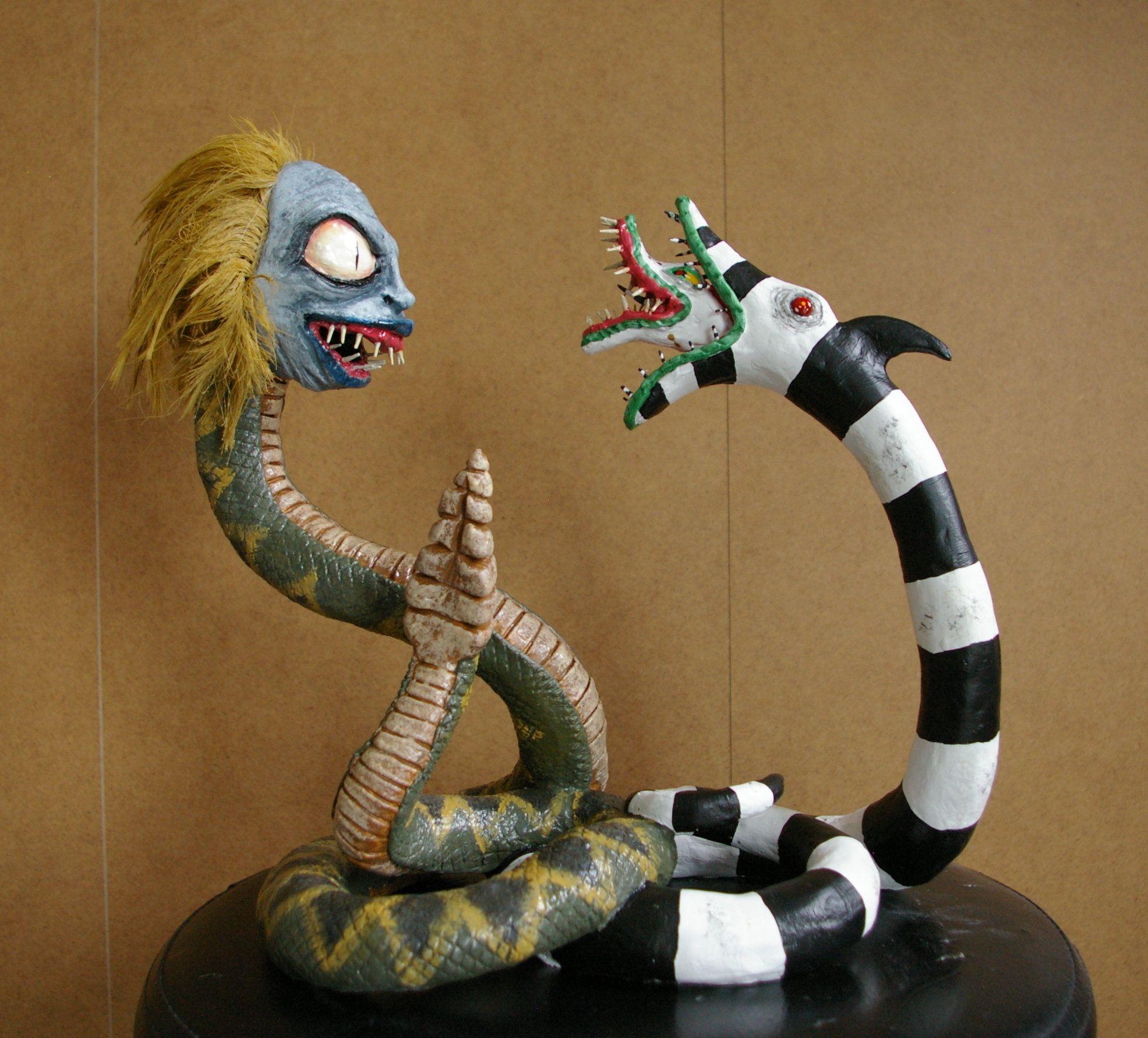 Beetlejuice vs Serpent des sables inspiration film