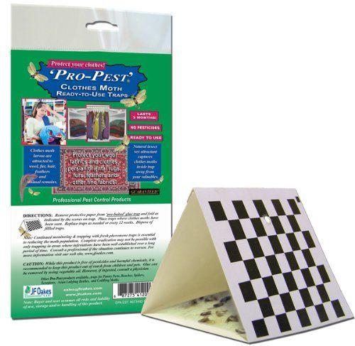 Propest Clothes Moth Trap 12 Packs 2 Traps Per Pack Organic Pest Control Pests Best Pest Control