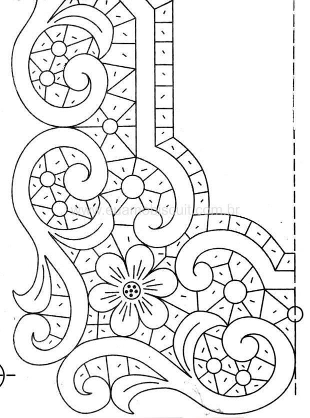 Bordado   Feston al recorte   Bordado, Monograma bordado y Repujado