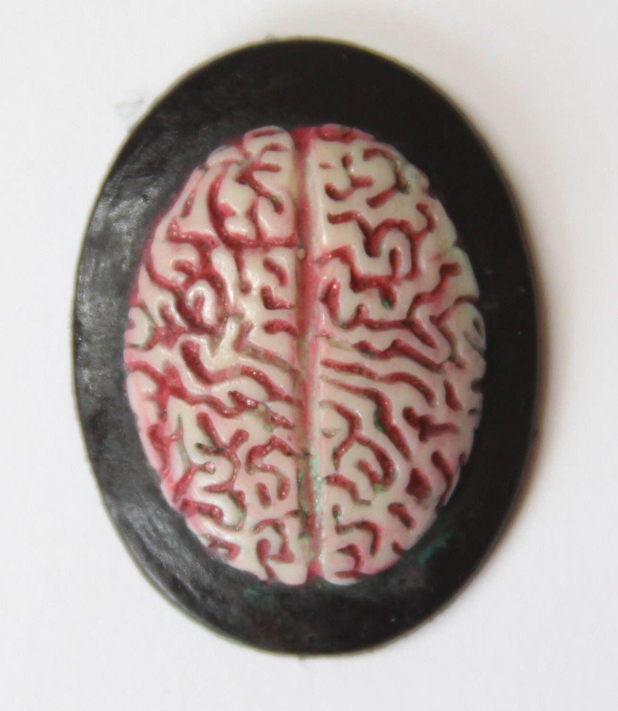 Brain anatomy gothic zombie needle minder - needleminder ...