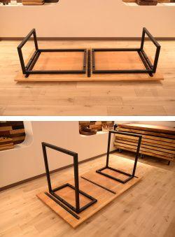 インダストリアル家具/アイアン脚テーブル(2way) – 天然木/無垢オーダー家具/無垢テーブル |