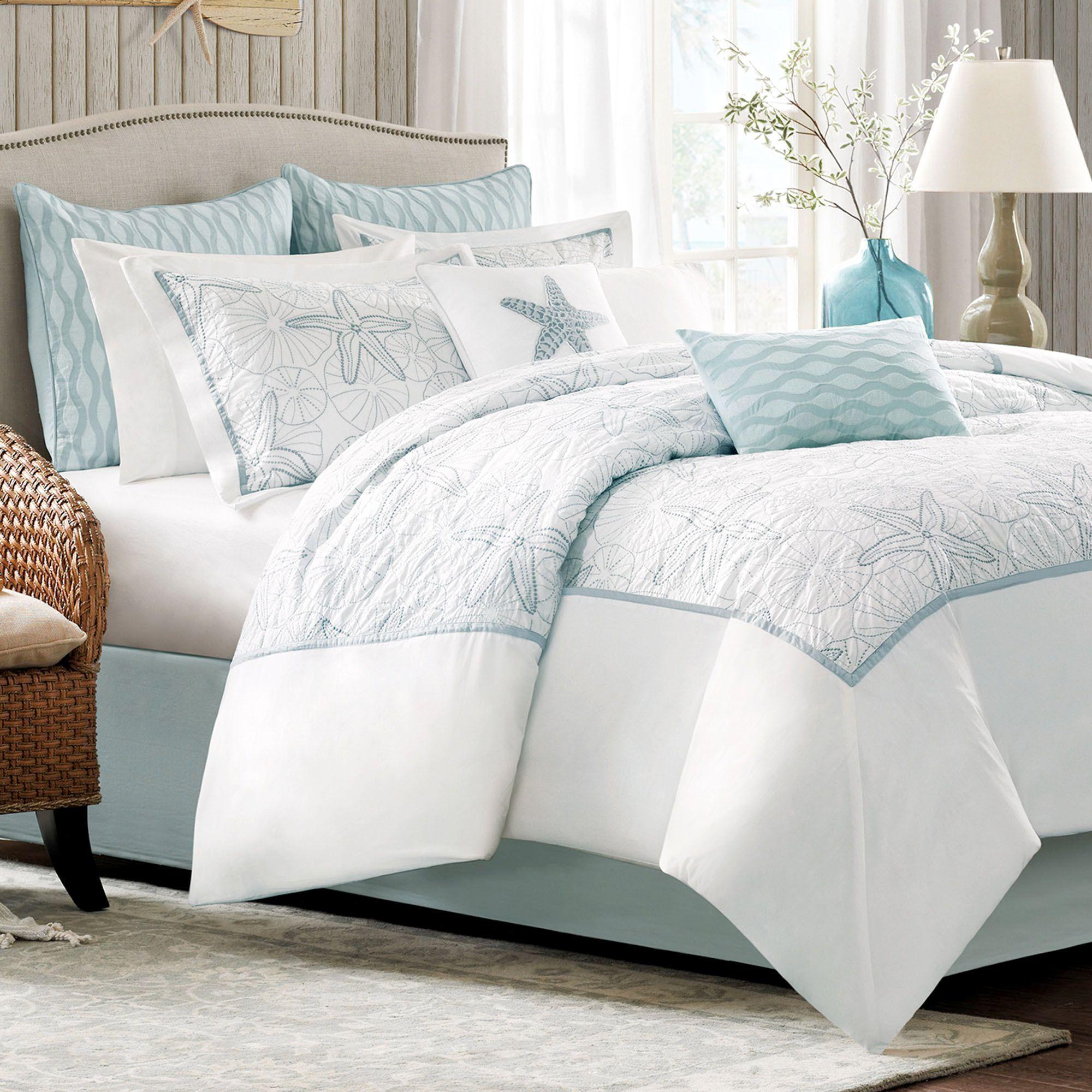 Maya Bay Embroidered Coastal Comforter Bedding Comforter