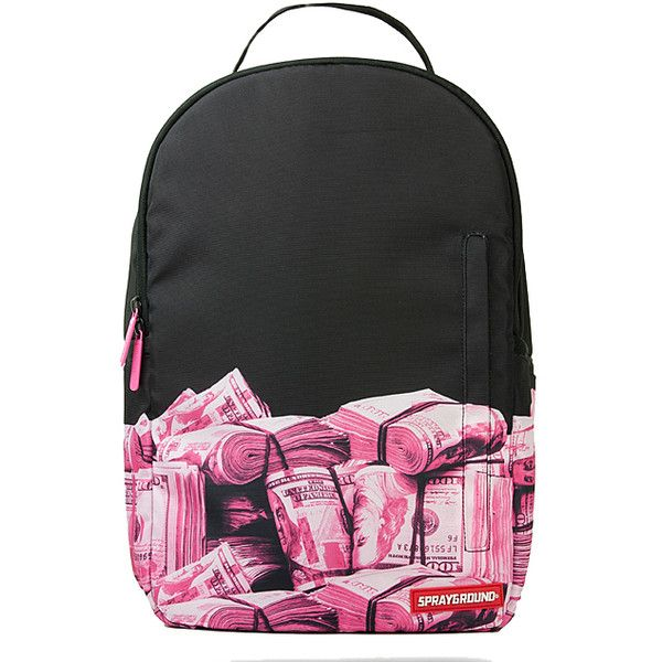 Sprayground Pink Money Rolled DLX Backpack 46 Liked On Polyvore Featuring Bags