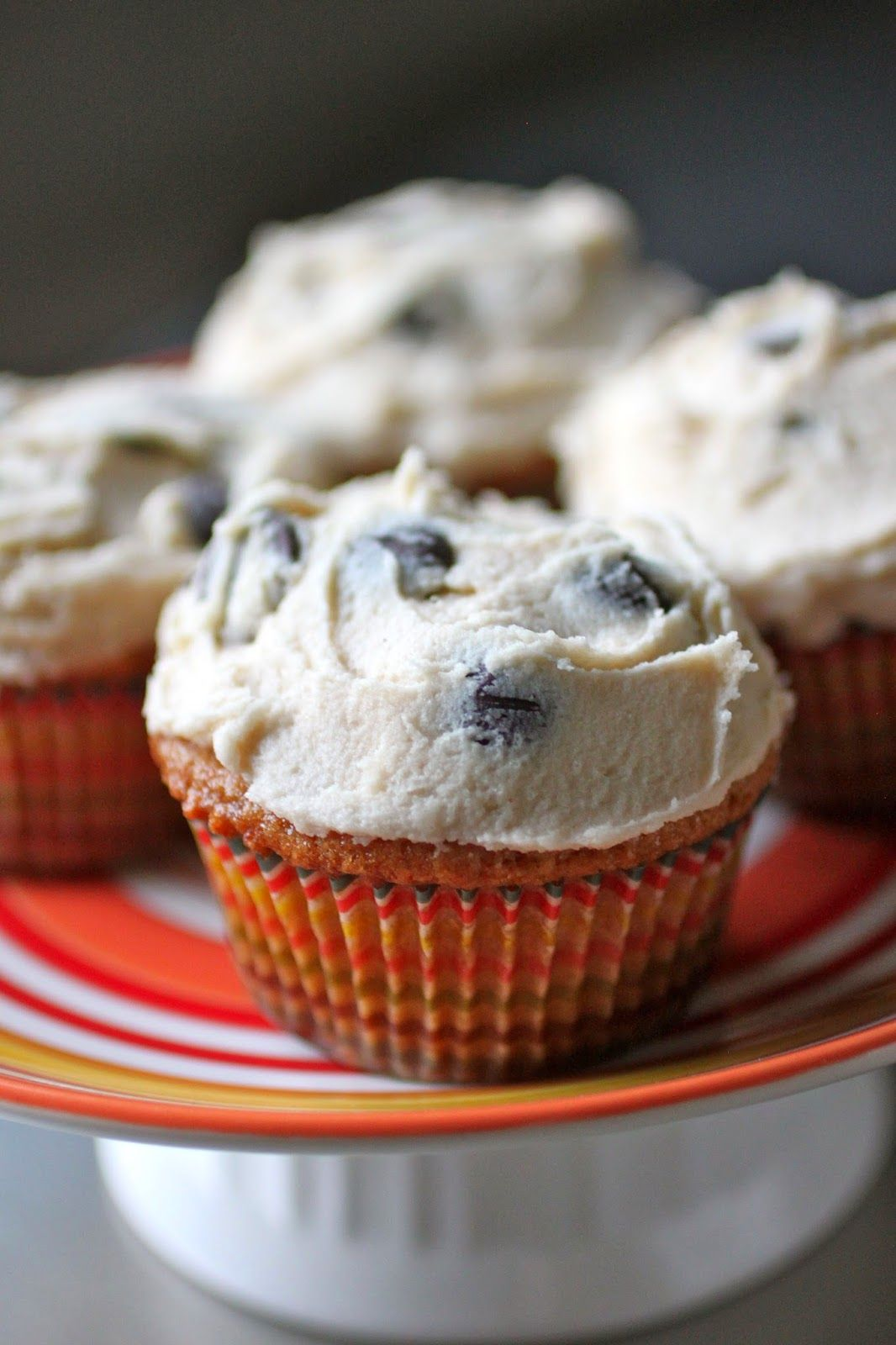 Brown sugar cupcakes with chocolate chip cookie dough