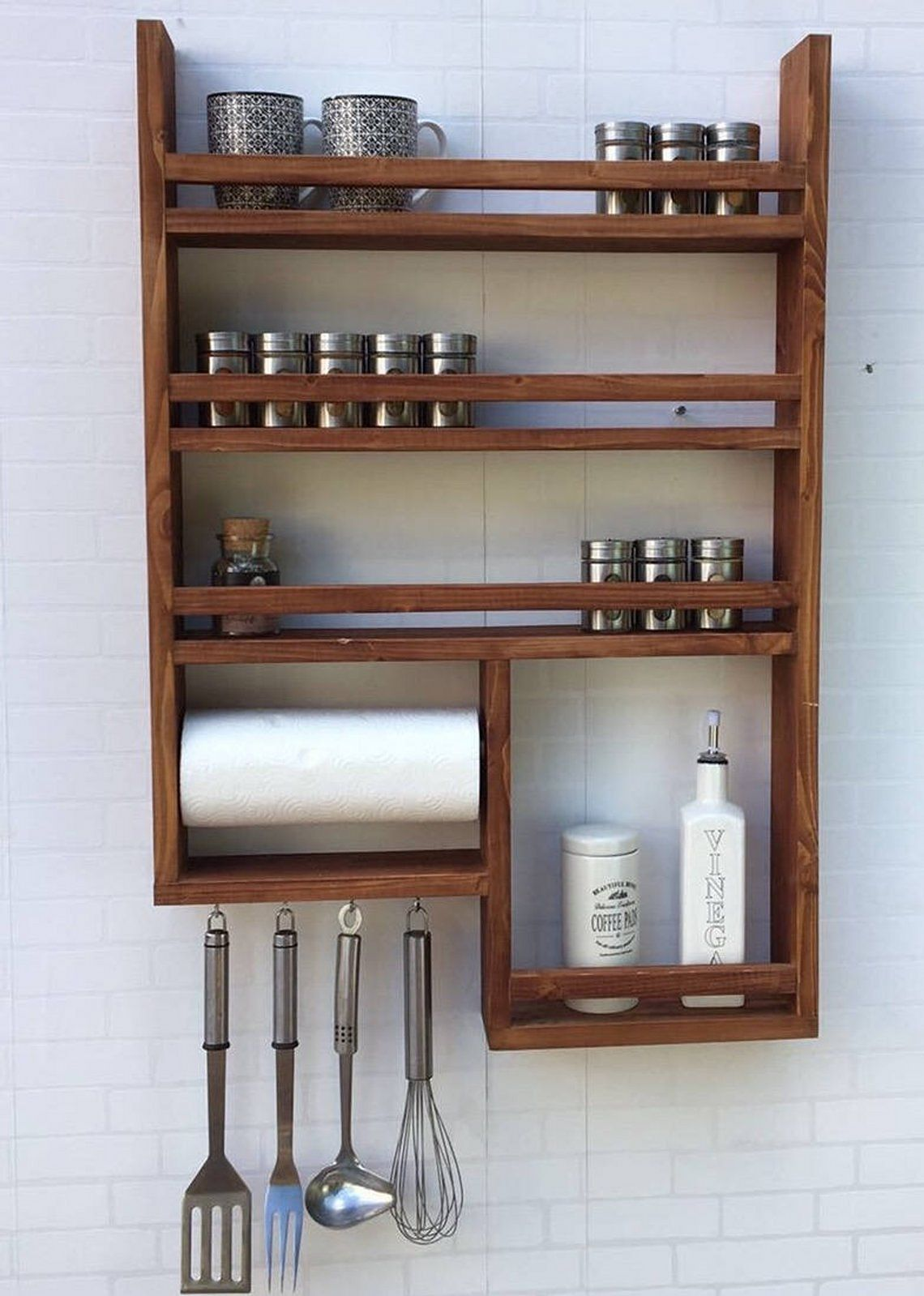 Awesome Industrial Kitchen Wood Rack Ideas You Must Try Teracee