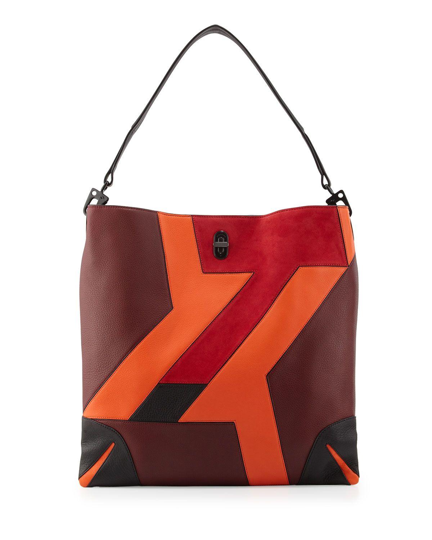 Sullivan Patchwork Leather Hobo Bag, Bordeaux - Rag & Bone ...