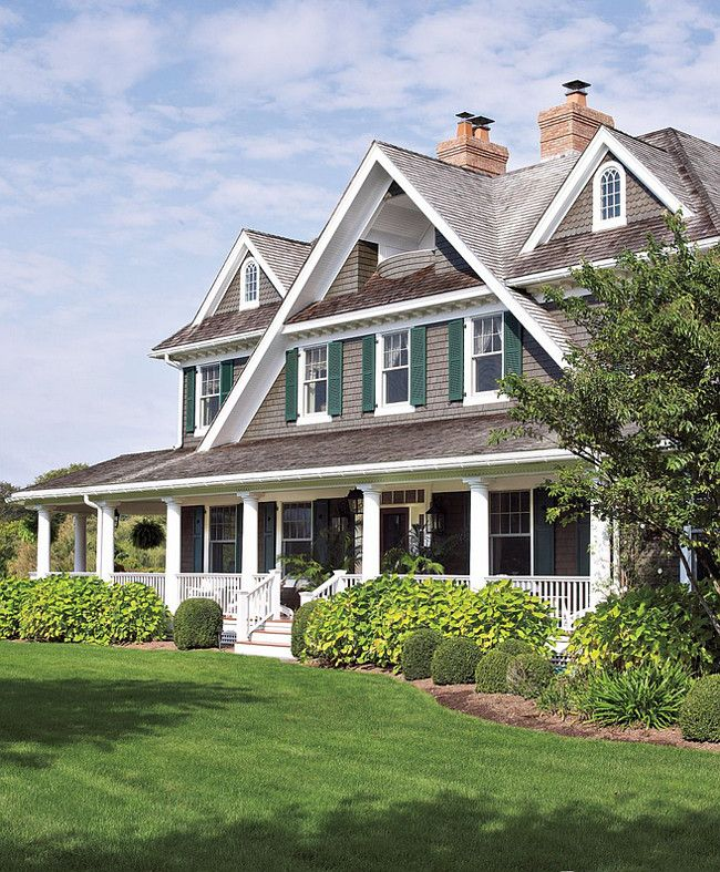 Shingle Home Front Porch. Welcoming Front Porch Ideas For