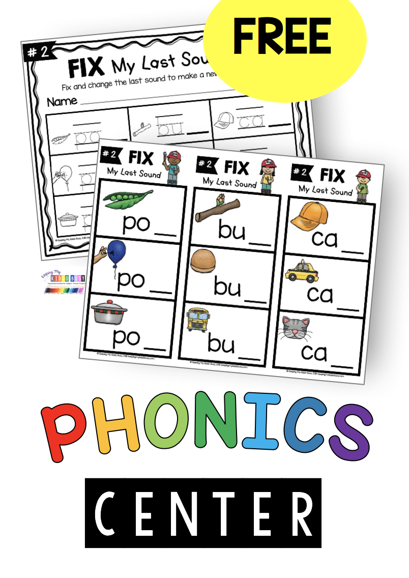 FREE CVC words - Activities and worksheets - kindergarten first grade  second grade phonics lessons   Phonics lessons [ 1136 x 804 Pixel ]