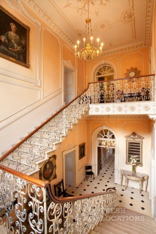 Northampton Hall England Wood Floors Fireplace Grand Piano