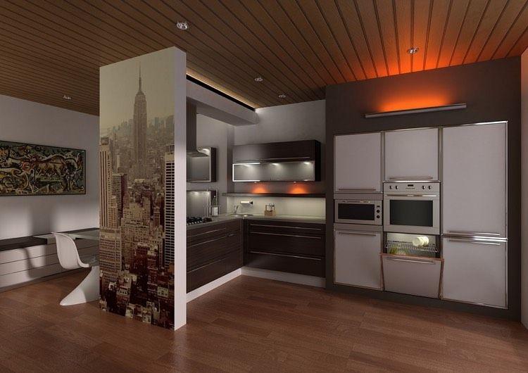 moderne Küche in L-Form und Einbauküchengeräte | Wohnideen Küche ... | {Moderne küche l form 54}