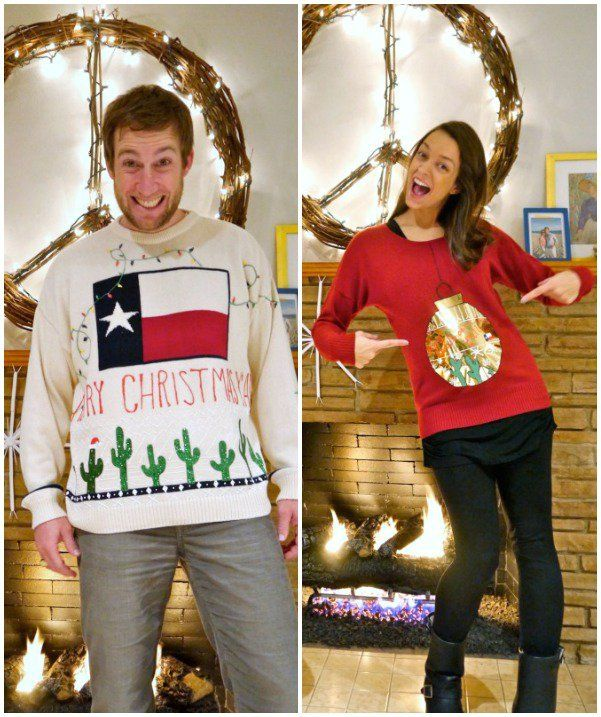 13 Homemade DIY Ugly Christmas Sweaters Christmas party