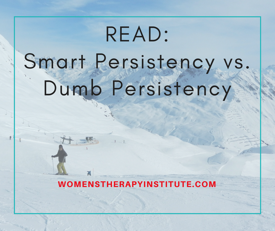 Smart Persistency vs. Dumb Persistency Persistency is important in life. But, there are different ways to be persistent. There is the smart way and the not-so-smart way. What is something you have been persistent about, and ultimately achieved?