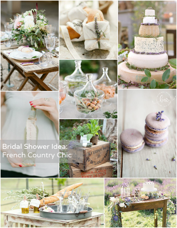 bridal shower theme french country chic
