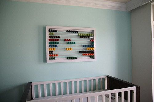 Large Abacus Wall Decor, Changing Table Wall Decor, Unique Wall Art ...