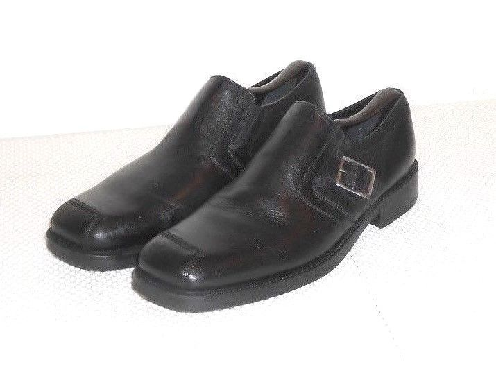 Nunn Bush Nxxt Men S Black Leather Buckle Loafer Slip On