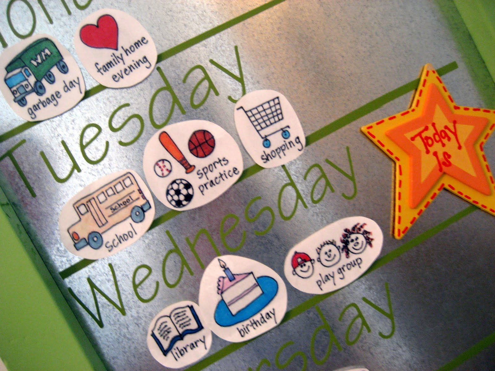 Whats Up Weekly Board Helping Kids Learn The Days Of The