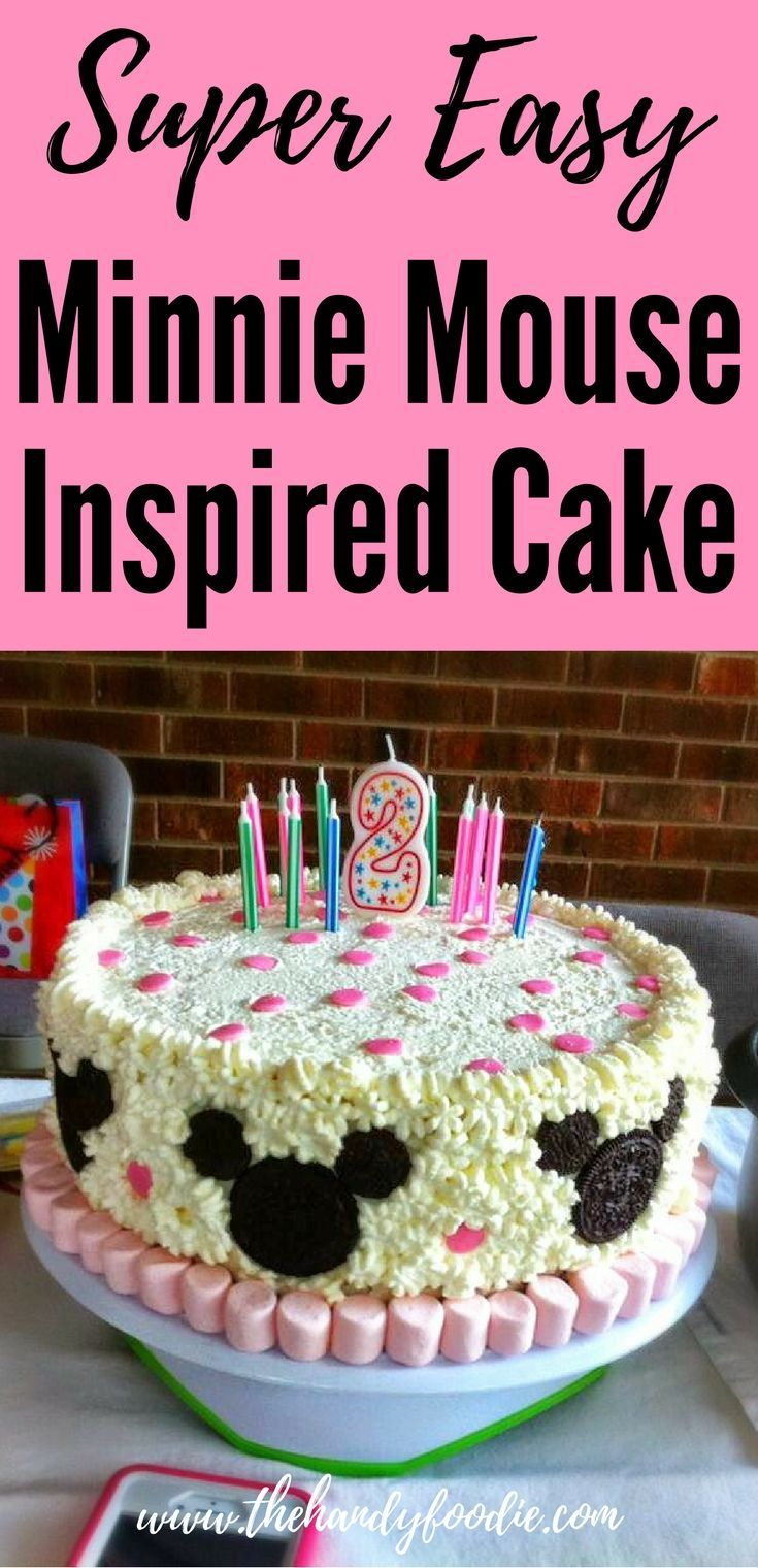 Great DIY Minnie Mouse Cake Ice cake Homemade cakes and Mouse cake