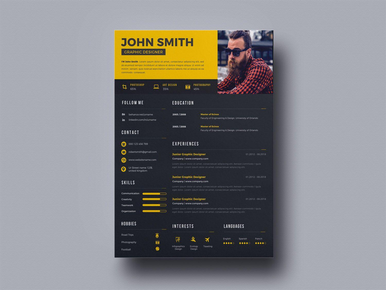 Free Creative Designer Resume Template freebie & free