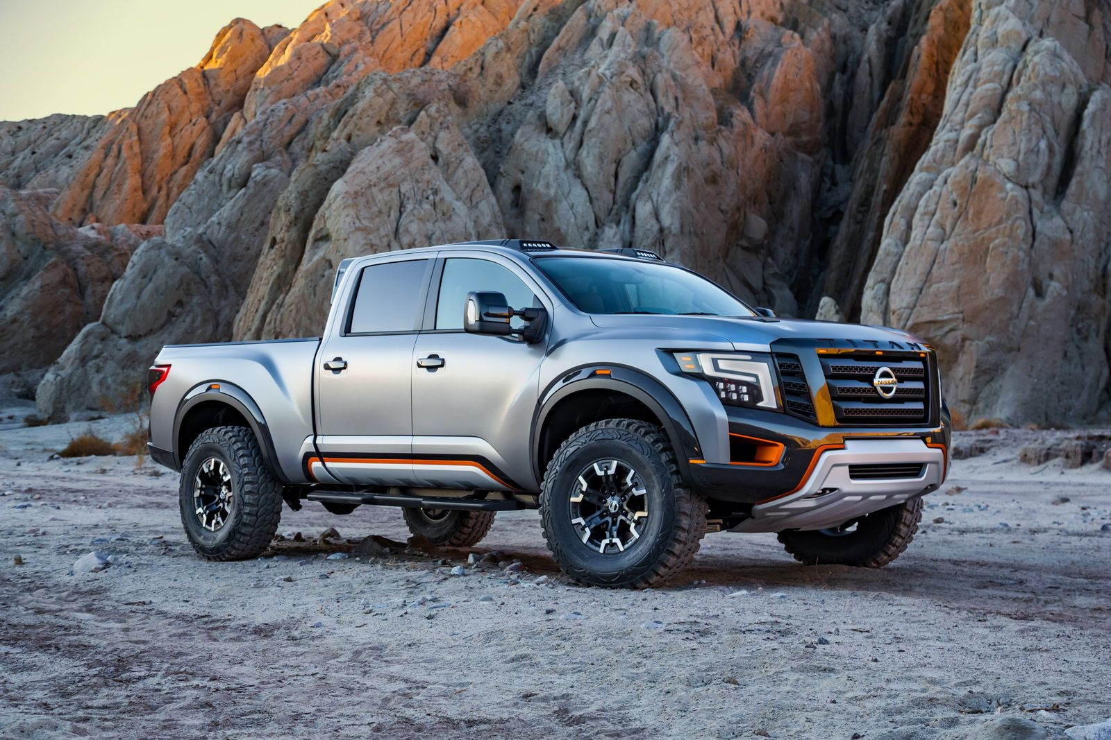 Nissan revealed the titan warrior pickup truck in detroit an angry off road concept based on the regular production model